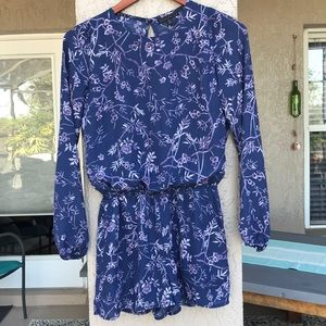 Lucca Couture long sleeve, floral open back romper